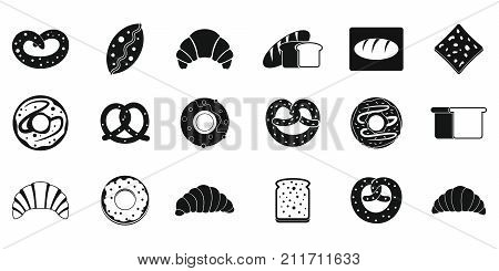 Bakery icon set. Simple set of bakery vector icons for web design isolated on white background