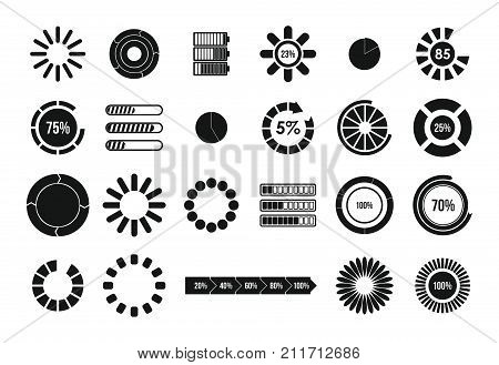 simple set of loading vector icons for web design isolated on white london is loading funny london bus inscription loading bar template for travel