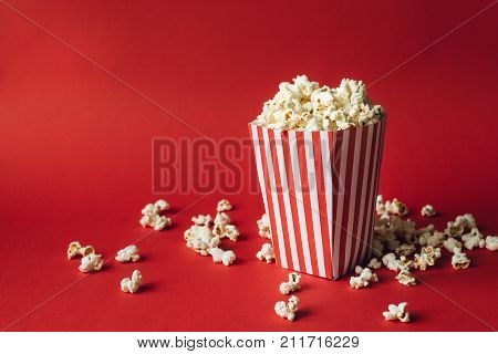 Striped Box With Popcorn