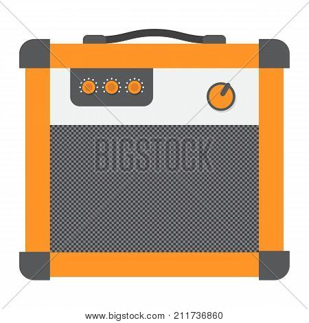 Amplifier flat icon, music and instrument, sound sign vector graphics, a colorful solid pattern on a white background, eps 10.
