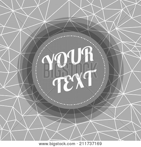 Abstract Seamless Triangular Polygonal geometric background with minimal round text box design stock vector illustration