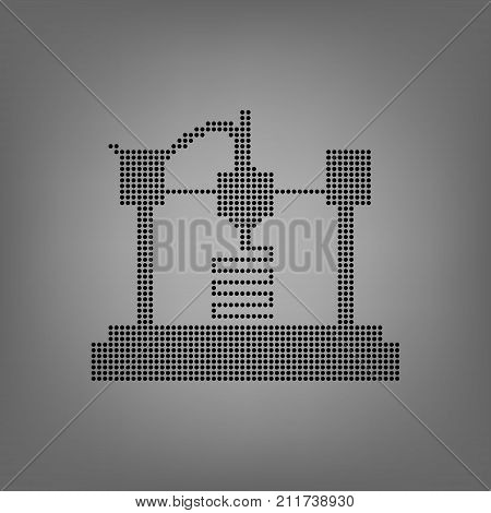 3D modeling and scanning technology Icon, vector illustration
