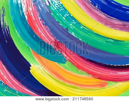 Painting Background Of A Colorful Brush Stroke Oil Or Acrylic Paint Design Element For Presentations
