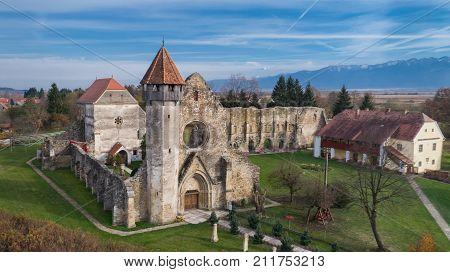 Carta Romania. The old ruined cistercian abbey from Transylvania