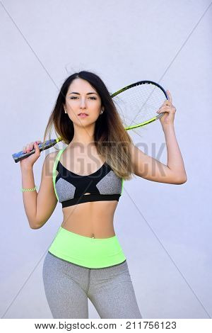 Girl With Sport Bat