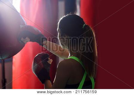 Winner Athlete In Boxing Gloves.