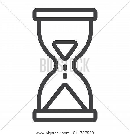 Hourglass line icon, web and mobile, busy sign vector graphics, a linear pattern on a white background, eps 10.