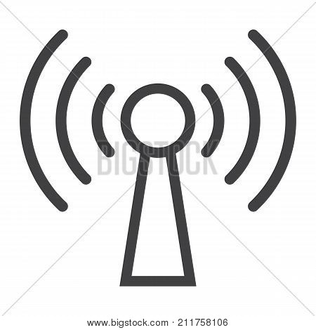 Podcast line icon, web and mobile, communication sign vector graphics, a linear pattern on a white background, eps 10.