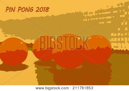 Ping pong balls vector illustration. Abstract background