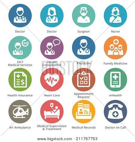 Medical Services Icons Set 1 - Dot Series
