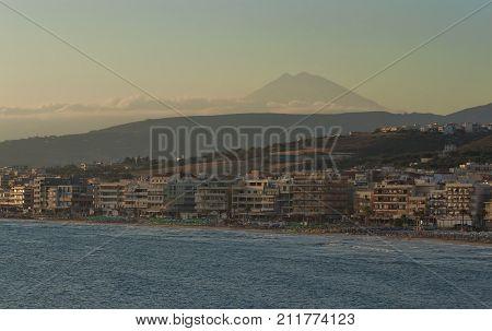 The Coastline Of Rethymnon