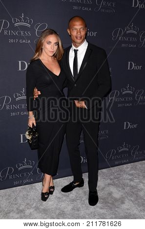 LOS ANGELES - OCT 25:  Chloe Green, Jeremy Meeks at the 2017 Princess Grace Awards Gala at the Beverly Hilton Hotel on October 25, 2017 in Beverly Hills, CA