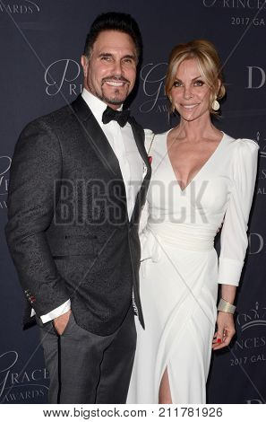 LOS ANGELES - OCT 25:  Don DIamont, CIndy Ambuehl at the 2017 Princess Grace Awards Gala at the Beverly Hilton Hotel on October 25, 2017 in Beverly Hills, CA