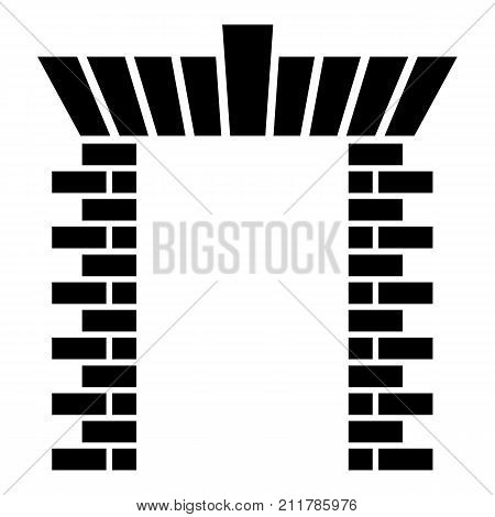 Block gate icon. Simple illustration of block gate vector icon for web