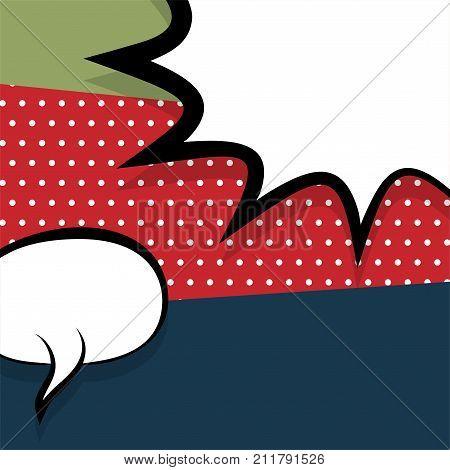 Clear empty boom halftone speech bubble Pop Art Style. Colored comic book text balloon conversation, dialog. Message cloud background sticker. Vector illustration. Colorful vintage retro space box.