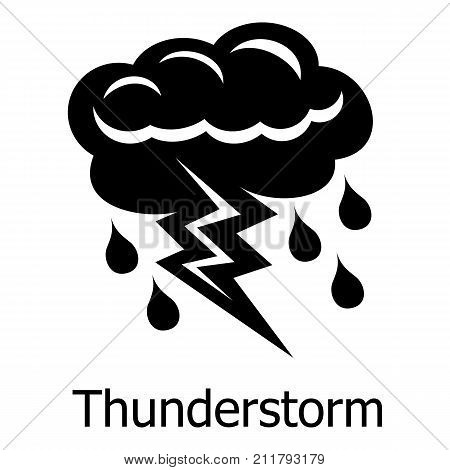 Thunderstorm icon. Simple illustration of thunderstorm vector icon for web
