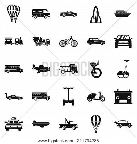 Two wheeler icons set. Simple set of 25 two wheeler vector icons for web isolated on white background
