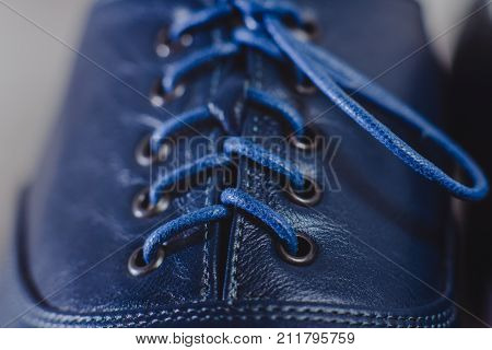 Stylish Blue Man's Crafted Shoes