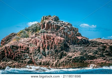 Unique rock formations in Mimosa Rocks National Park NSW Australia