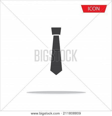 Necktie icon vector , Tie icon vector isolated on white background.