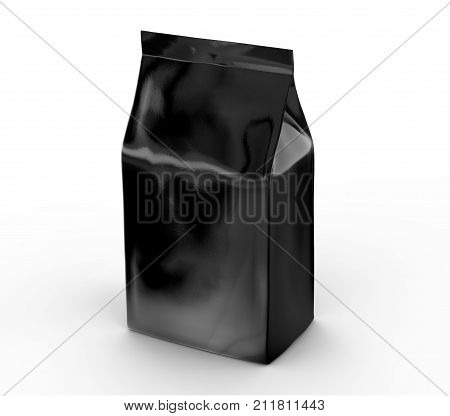 Black Coffee Bean Bag Mockup