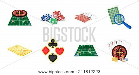 Casino and equipment icons in set collection for design. Gambling and money vector symbol stock  illustration.