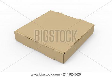 Brown Pizza Box