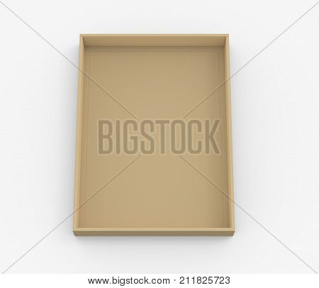 Brown Cardboard Box Lid