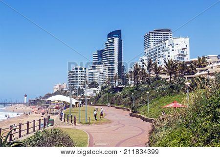 Coastal City Landscape In Umhlanga Durban South Africa