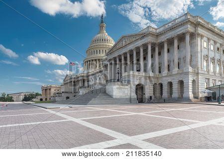Washington DC, United States Capitol Building east façade.