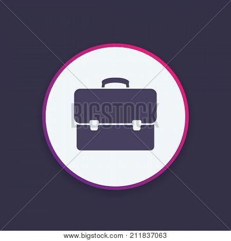 business briefcase, bag icon, eps 10 file, easy to edit
