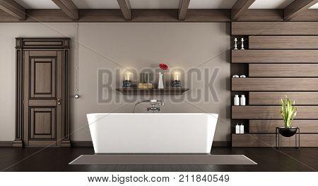 Modern Bathtub In A Classic Bathroom