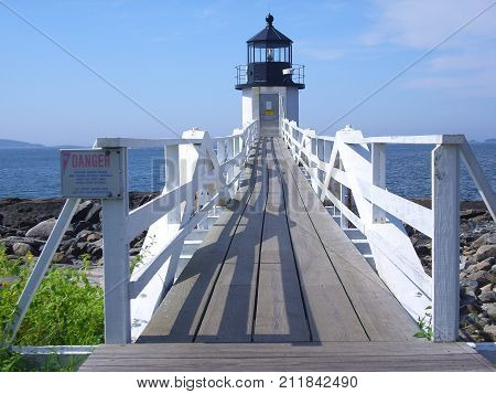The Marshall Point Lighthouse in Maine, USA