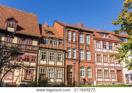 Historic Houses At The Godehard Square In Hildesheim