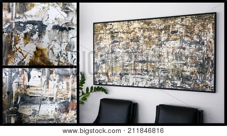 Original Abstract Art On The Wall