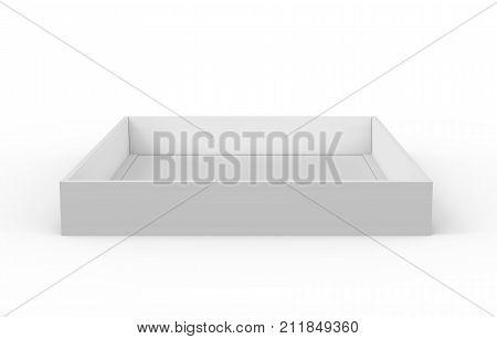 White Box Lid Mockup