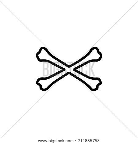 Premium bone icon or logo in line style. High quality sign and symbol on a white background. Vector outline pictogram for infographic, web design and app development.