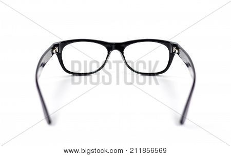 Transparent Glasses For Correction Of Sight. Isolated On White Background