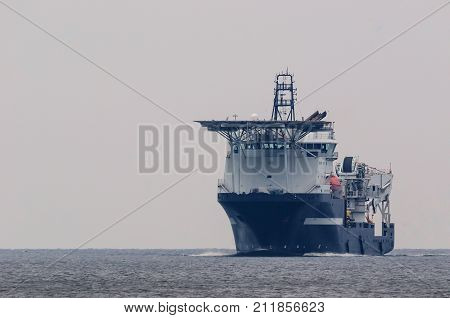 MULTIFUNCTIONAL SUBSEA VESSEL - The ship working at sea