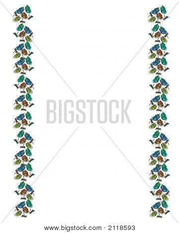 Stained Glass Butterfly Border
