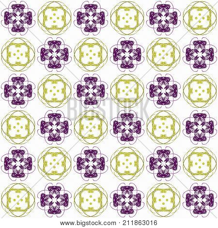 Seamless Abstract Purple Yellow Texture Fractal Patterns