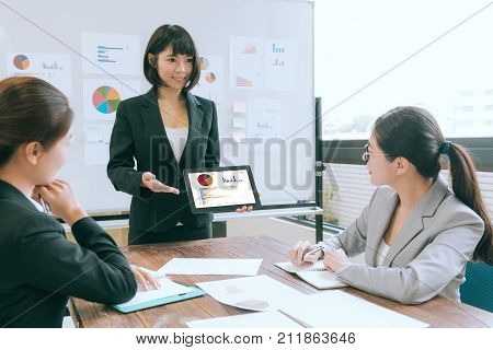 Business Speaker Using With Mobile Computer
