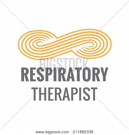 Respiratory Therapist Medical Symbol Icon - RRT RT or CRT