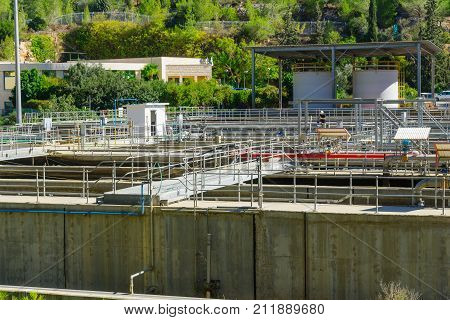 Sewage Treatment Plant, In The Sorek Valley