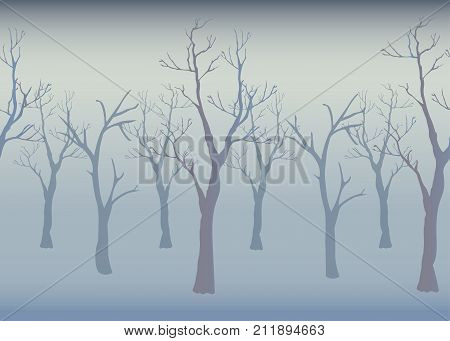 Winter Trees Background.