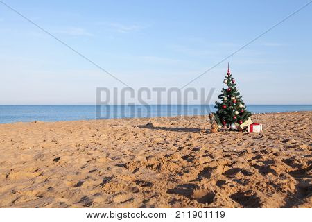 new year gifts for Christmas at the beach beach resort