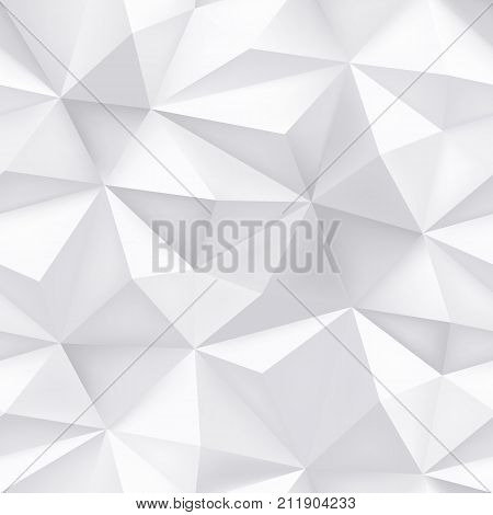 Triangle Geometric Abstract Pattern Vector Halftone Mosaic Texture Seamless Background
