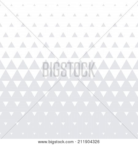 Triangle Geometric Pattern Vector Seamless Abstract White Halftone Minimal Gradient Texture Backgrou