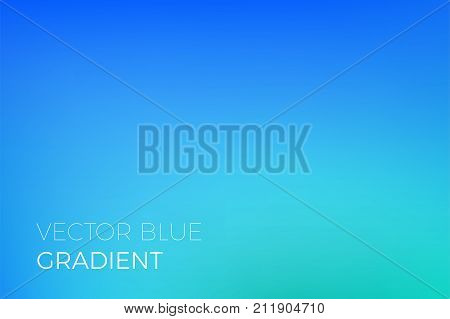 Color Gradient Background Sky Blue Abstract Soft Blend Trendy Vector Light Effect