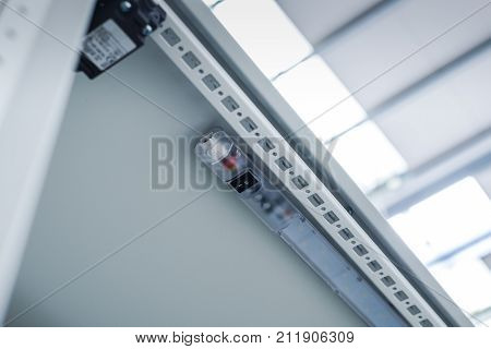 Electric light lamp in industrial enclosure power distribution industry.